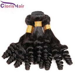 new machine curls hair Coupons - New Arrival Bouncy Spiral Romance Curly Human Hair Weave Wholesale Unprocessed Peruvian Aunty Funmi Egg Curls Hair Extensions 3pcs