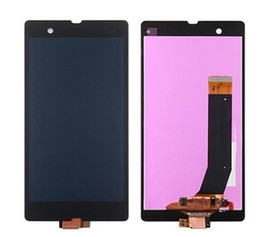Wholesale l36h lcd - Hot Sale For Sony Z LCD Digitizer Touch Screen With Display Assembly 5.0inch L36h L36i C6606 C6603 C6602 Black Screen Replacement Wholesale