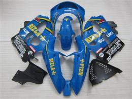 Wholesale 1998 Srad - Free Gifts New motor Fairing Kit Fit For SUZUKI SRAD GSXR750 GSXR600 96-00 1996 1997 1998 1999 2000 R600 R750 bodywork blue yellow RIZLA+