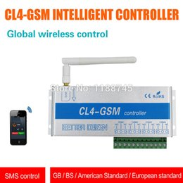 Wholesale Controller Sms Relay - Wholesale- GSM SMS Controller CL4-GSM sensor Wireless remote with aluminum alloy box 4 relay