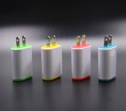 Wholesale Galaxy Note Charging Port - Colorful USB wall Charging Charger US Plug 5V1.2A AC Power Adapter Wall Charger Plug 1 port for Iphone Samsung Galaxy Note LG