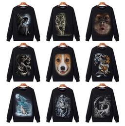 2019 3d графические куртки Плюс размер S~3xl продажи пары мужчины симпатичные 3D графический животных печати толстовка с капюшоном мужской призрак всадника куртка душа хип-хоп пуловер скидка 3d графические куртки