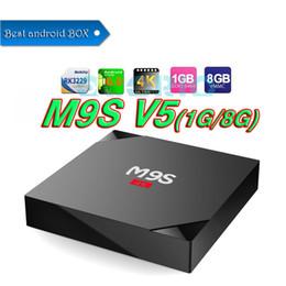 Wholesale Mx2 Google Tv - Hot MX2 M9S V5 MXQ PRO Quad Core Android6.0 TV BOX With Customized KD 17.3 TV Box Fully Loaded 4K Media Player