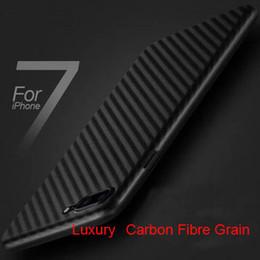 Wholesale Carbon Fibre Iphone Black Case - 2017 New Carbon Fibre pattern Grain For iPhone 7 Iphone7 iphone6 6S Soft TPU Gel Back Cover Case