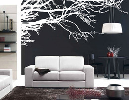 Wholesale Background Design For Tv Wall - Mega Stunning Tree Branch Removable Wall Art Stickers Vinyl Sticker Home Decor Large Tree Decals For TV Background Sticker