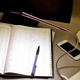 Wholesale Children Study - 10LEDs USB LED Desk Lamp Study Flexible Night Light Book Table Reading Lamp Eye-care Bedside Lights For Children Headboard Light