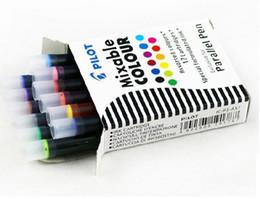 Wholesale Fountain Pen Ink Cartridges Black - Wholesale-Pilot art pen parallel pen 12 color ink sac ink cartridges ICP3 IRFP 6S black blu red brwon yellow green 6 pieces   12 pieces
