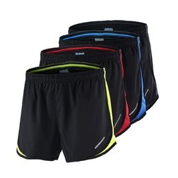 Wholesale Quick Comfort - Wholesale- Summer Men's Running Shorts Comfort Fit Quick Dry Outdoor Sports Shorts 4 Colors Clothing Elastic Running Sport Shorts