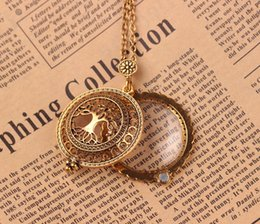 Wholesale Magnifying Glass Chain - Life of tree magnifying glass pendant Long Necklaces Vintage hollow out pendant Bronze Plated Jewelry For women