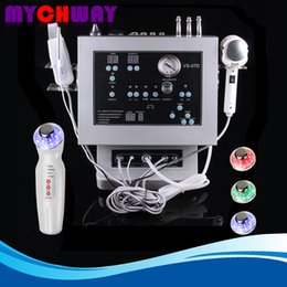 Wholesale Microdermabrasion Skin Scrubber - Skin Rejuvenation Whitening 4in1 Diamond Microdermabrasion Ultrasonic Skin Scrubber LED Light Photon Machine With The Hot & Cold Treatment