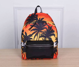 Wholesale Custom Packing - Stylish Coconut Tree Custom Printed Luxury Backpacks for Men Print Rucksack Travel Pack Laptop Bagpack Backbag Sac a Dos Femme 6880