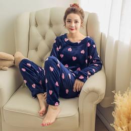 2019 anáguas rosa quente Atacado- adulto flanela pijama define mujer adultos dos desenhos animados grossas mulheres quentes conjuntos de pijama sleepwear para senhoras nightwear