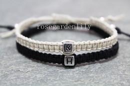 Initiales personnalisées Couple Bracelets Lui et la sienne Cadeaux Saint  Valentin
