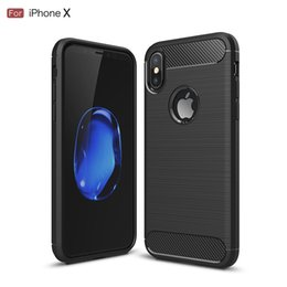 Wholesale Note Casing - Rugged Armor Case for iPhone 8 Plus iPhone X Samsung Galaxy Note 8 Anti Shock Absorption Carbon Fiber Design