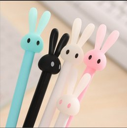 Wholesale Korean Style Stationery - Hot Sale Korean Stationery High Quality Signature pen cartoon cute rabbit jelly styling pen Sign Pen School&Office Supplies Free Shipping