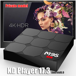 Wholesale Smart Tv Set - New M9S V3 Smart Android 6.0 TV Boxes Rockchip RK3229 Quad Core 1GB 8GB KDplayer 17.3 Fully Loaded Google Set Top Box 3D Free Movies