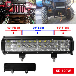 Wholesale Led Driving Lights For Boats - 12000LM 120W Led Light Bar Auto SUV Combo for Vehicle Driving Led Lamp Bar Suitable For Truck SUV Boat ATV Car Work Lights CLT_41I