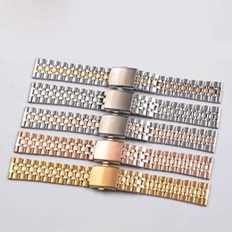 Wholesale Push Button Small - Hot sale Ladies steel watch band strap apply five beads solid small form factor 10 12 14 16 18 20mm please leave a message of color you want