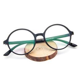 2019 quadros de óculos redondos atacado Nova Marca Rodada Adorável Mulheres Óculos grande Quadro Vintage Simples lente clara Senhoras de leitura Bonito eyewear Óptico óculos redondos Atacado desconto quadros de óculos redondos atacado