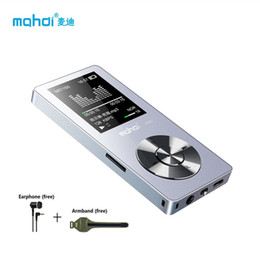 Wholesale Speaker Arm - Wholesale- Mahdi Full Metal 8G MP3 Player With Arm Strap Sport MP3 Music Player Build in Speaker 80 Hours Player Voice Recorder Earphone