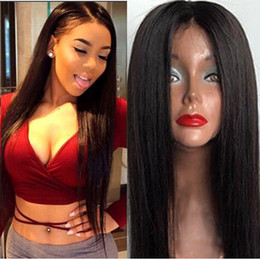 Wholesale Mixed Hair Wigs - Top Quality Silky Straight Wig Simulation Human Hair Wigs Straight Wigs For black women In stock
