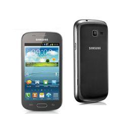 Wholesale Dual Sim S - Original Samsung S7562 Galaxy S Duos Cell Phones 5 MP camera wifi GPS android 4.0 Dual sim card refurbished