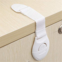 Wholesale children drawers - Wholesale- Cabinet Door Drawers Refrigerator Toilet Lengthened Bendy Safety Plastic Locks For Child Kid Baby Safety
