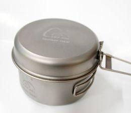 Wholesale Fries Cup - Camp Titanium Pot Outdoors Cookware Set Ultralight Titaniums Pot Frying Pan Outdoor Camping Bowl Titanium Cup Picnic 15 8yh A R