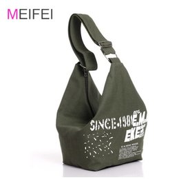 Wholesale Wholesale Canvas Messenger Bag Large - Wholesale-2016 Women Canvas crossbody bags Large Capacity shopping Bags Student Messenger Bag Practical big shouder bags free shipping