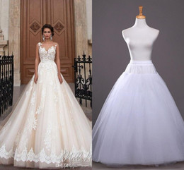 Wholesale Cheap White Petticoats - 2017 In Stock A-line Petticoat Cheap Bridal Accessories Bridal Slip for Wedding Dresses Bridal Underskirt CPA212