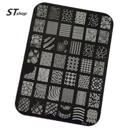 Wholesale Diy Images Flowers - Wholesale-1pcs New Stamping Fashion Lace Flower Designs Nail Art Templates DIY Stencil Stamp Plates Polish Image Manicure Tools XY01-20