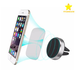 Wholesale Iphone Phone Clips - Car Mount holder Clip 360 Degree Universal Magnetic Air Vent Mount Smartphone Dock Mobile Phone Holder PC CellPhone Holder Stands for iphone