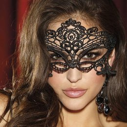 Wholesale carnival cuts - Sexy Venetian Hot Black Lace cut out masks masquerade Party Mask Sexy lady Festival Carnival Boho