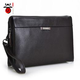 Wholesale Designe Handbags - Wholesale- Senkey style Fashion Luxury designe high Male Leather wallets Men's genuine Leather Handbags new famous brand clutch bags Purse