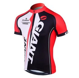 Wholesale Ropa Ciclismo Giant - VACOVE 2017 Summer Pro Team Giant Cycling jerseys Breathable Short sleeves Cycling Clothing MTB bike jerseys Ropa Ciclismo cycling shirt