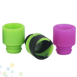 Wholesale Electronic Cigarette Tips Disposable - Disposable Silica Gel 510 Drip Tip Wide Bore Mouthpiece 10 Colors fit RDA Atomizer RBA Electronic Cigarette DHL Free