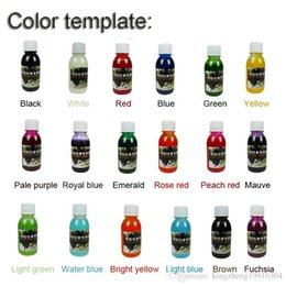 Wholesale Temporary Ems Tattoo - DHL EMS Free Shipping 18 Colors Set Golden Phoenix Temporary Airbrush Tattoo Color Ink Pigmentation for Body Tattoo Inkjet
