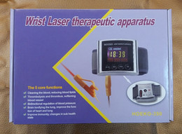 Wholesale Laser Blood Therapy - Free shipping,wrist laser therapeutic blood cleaner,laser therapy blood cleaner,hot sale!!