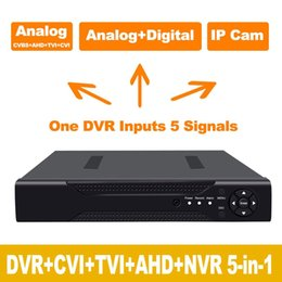 2019 grabadora dvr de 1 canal 1080N / 720P 4CH AHD DVR HVR NVR HDMI P2P Red en la nube Onvif Grabadora de video digital Plug and Play Android / iOS APP Libre CMS navegador