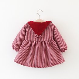 Wholesale Cashmere Coat Girl - 2017 kids clothes Winter solid color stripes plus cashmere jacket girl children's clothing