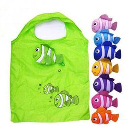 Wholesale Fishing Shopping - Polyester clown fish Portable Foldable Shopping Bags reusable Environmental Protection Pouch Eco-Friendly Shopping Bags Tote Bags