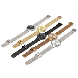 Wholesale Ladies Ceramic Band Watches - machine Julius Women es Ultrathin Stainless Steel Mesh Band Fashion Quartz Wrist Watch Ladies Elegant Dress Watch relogio feminino
