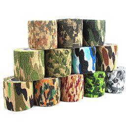 strumenti di riflessione Sconti Autoadesiva Non tessuto 5 cm x 4.5 m Camouflage Wrap Rifle Caccia Tiro Ciclismo Nastro Camo Stealth Tape Per Coltello Strumenti EDC