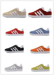 Wholesale Dark Red Vintage Shoe - 2017 Original Gazelle Vintage Casual Lovers Shoes Campus Pop Girl and Boy OG Flat Superstar Casual Sneakers