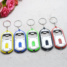 Wholesale Jade Small Beads - LED bottle opener opener Keychain lights lamp small gifts promotional items