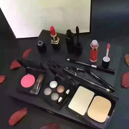 Wholesale Christmas Mascara - makeup set 2017 Free Shipping High Quality Eye Shadow Eyeliner Mascara Lipstick Lip Gloss Blush Foundation Cosmetic Set Makeup medium M 9pcs