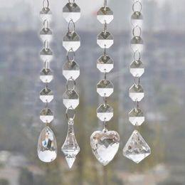 Wholesale Manzanita Trees - 1 Meters Shine Acrylic Crystal Bead Garland Strand 14 mm Bead Chains Drop Pendant Wedding Centerpiece Manzanita Tree Party Wedding Decor