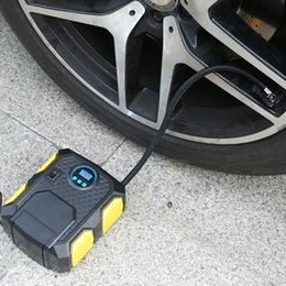 Wholesale Motor For Compressor - Portable DC 12V Inflatable Pump 3M Cord Heavty Duty Car Air Compressor Auto Wheel Pressure Monitor for Vehicle Bike Motor Ball Free Shipping