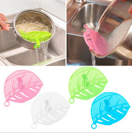 Wholesale Tea Strainer Sieve - Hot Sale Durable Clean Leaf Shape Rice Strainer Sieve Beans Peas Cleaning Gadget Strainer for Kitchen Clips Tools Leaf Shape Rice Washer