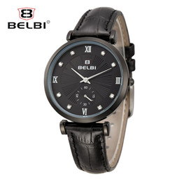 Wholesale Thin Leather Watch For Women - AAA Luxury Women Watches Fashion Waterproof Leather Ultra-thin Watch Dial for Ladies China Famous Quartz Movement Wristwatch Brand BELBI